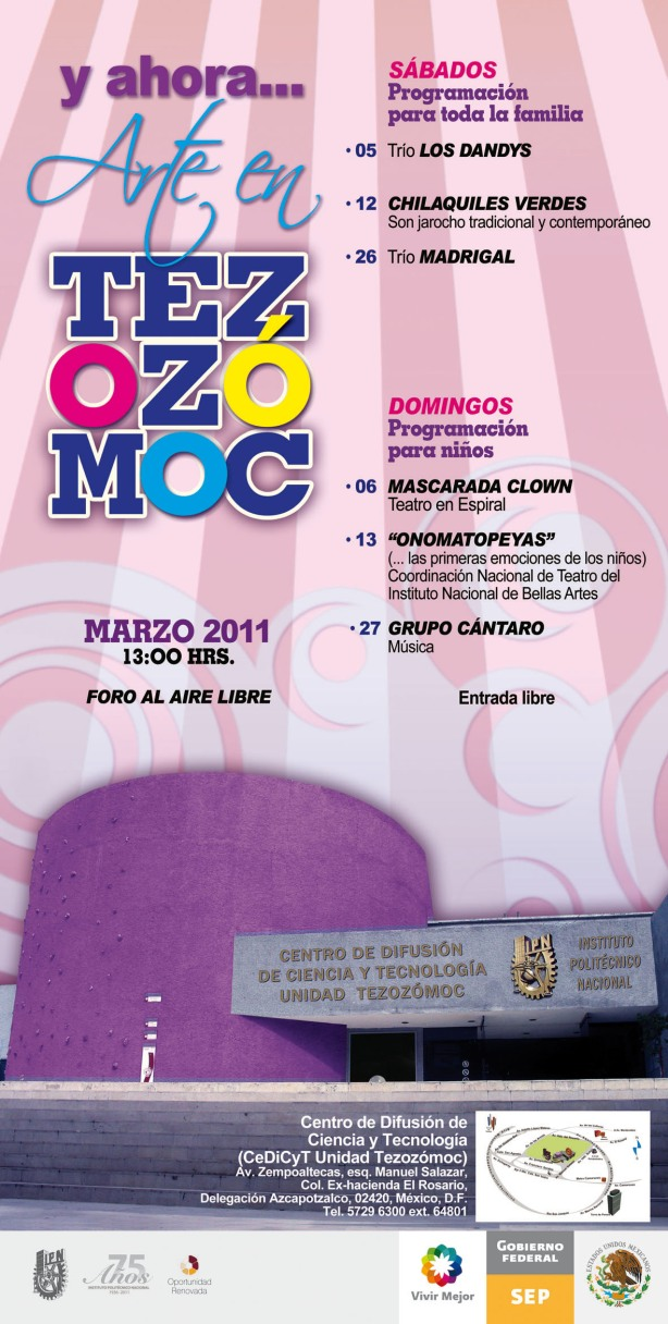 Astillero Teatro, Onomatopeyas, Domingo 13 de marzo 2011 a las 13:00 hrs, IPN