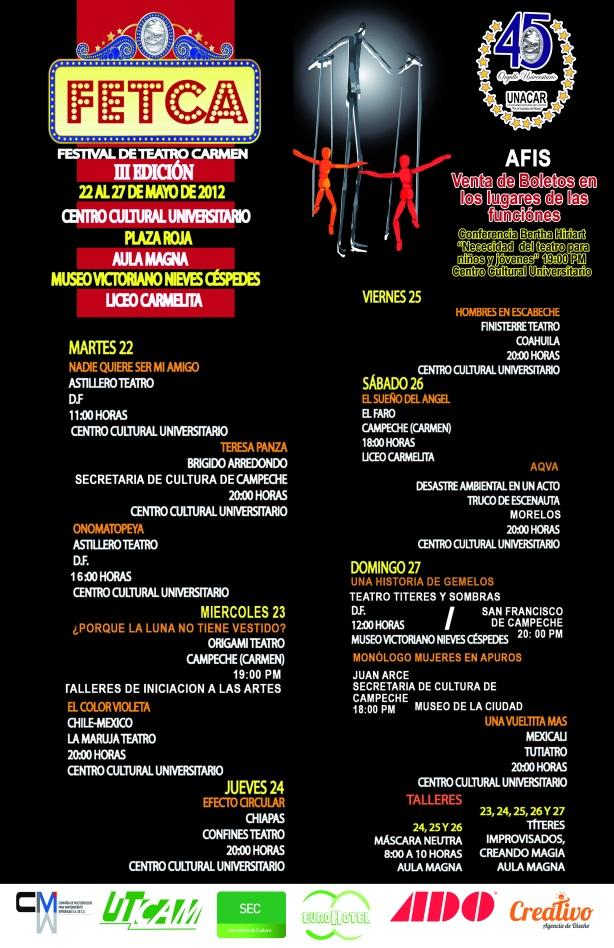 Festival de Teatro Carmen III edición, Campeche