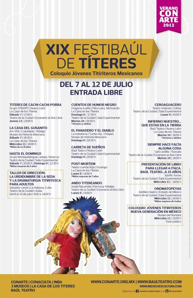 Onomatopeyas en el XIX Festibaúl de Títeres en Monterrey del 7 al 12 de julio 2012