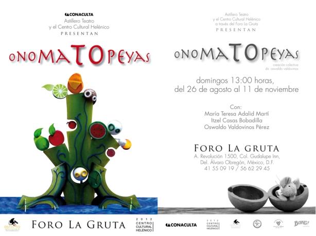 Onomatopeyas, Foro La Gruta, Centro Cultural Helénico