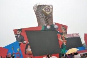The main stage shown AstilleroTeatro Puppets in close-up!