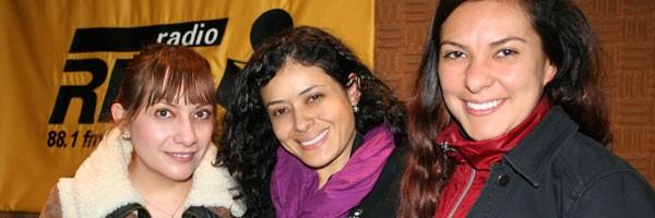María Teresa Adalid, Lupita Juárez, Zohar Salgado. La Red de Radio Red